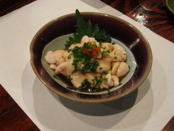 Cod sperm sac in ponzu sauce
