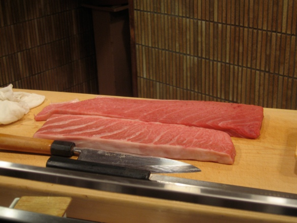O-toro and Chu-toro at Kyubei