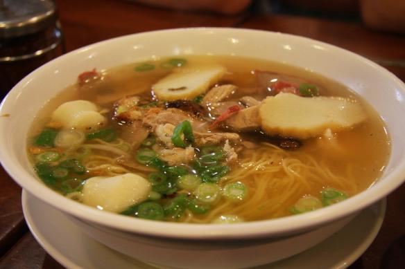 Combo egg noodle soup