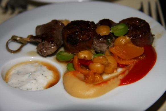 lamb chop with merguez sausage