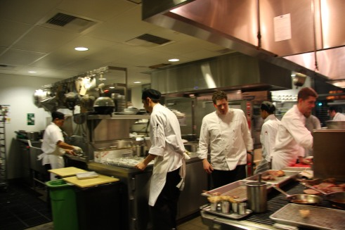 XIV kitchen, Chef Fretz in the middle