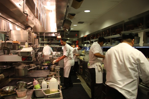Behind the scenes: the kitchen