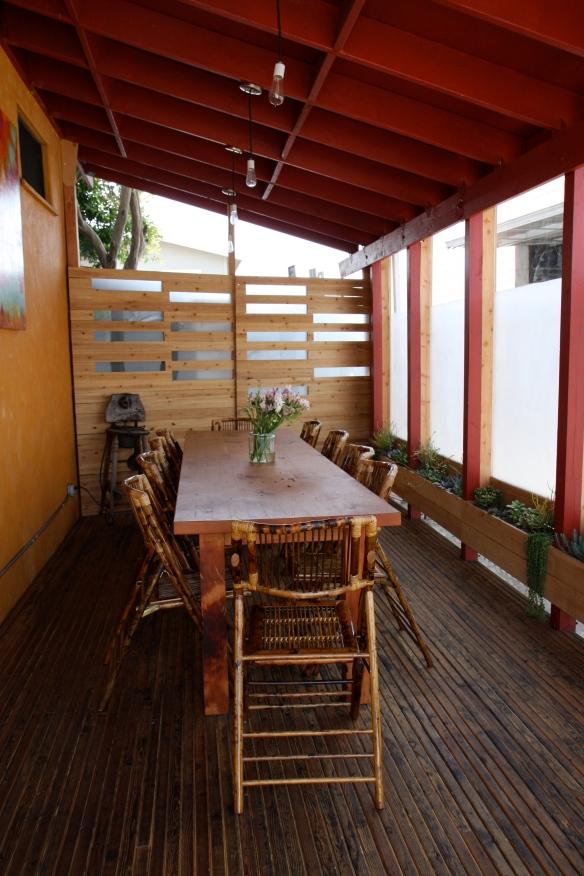 The newly opened beautiful patio