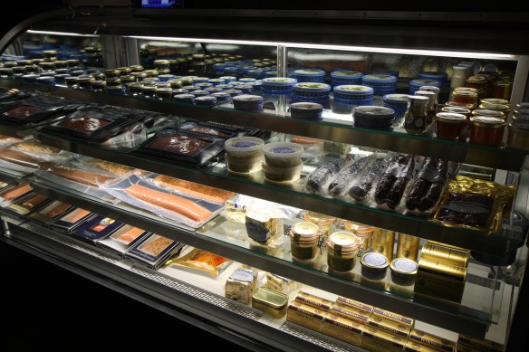 Display case of delightful delicacies