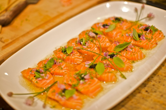 Sea trout sashimi
