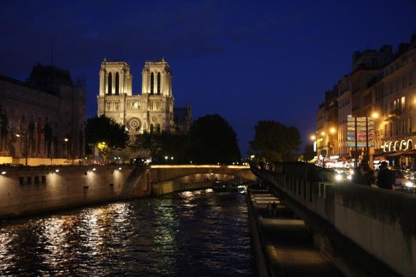 Notre Dame at dusk