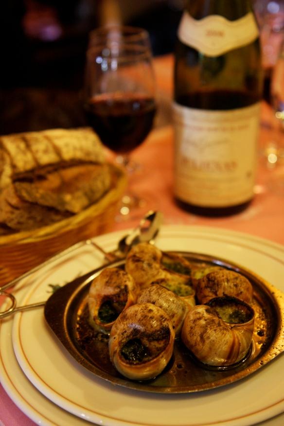 Escargots at Ma Bourgogne