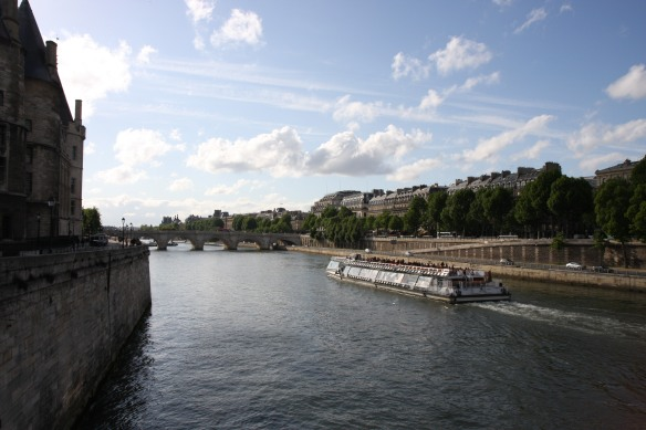 Bateau on the Seine river