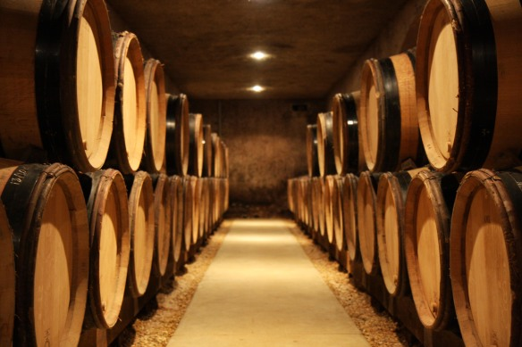 Wine aging in the cellar
