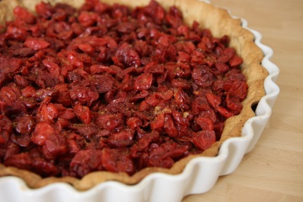 Dried cherry tart