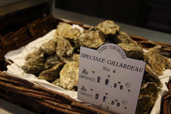 Speciales Gillardeau N4 oysters