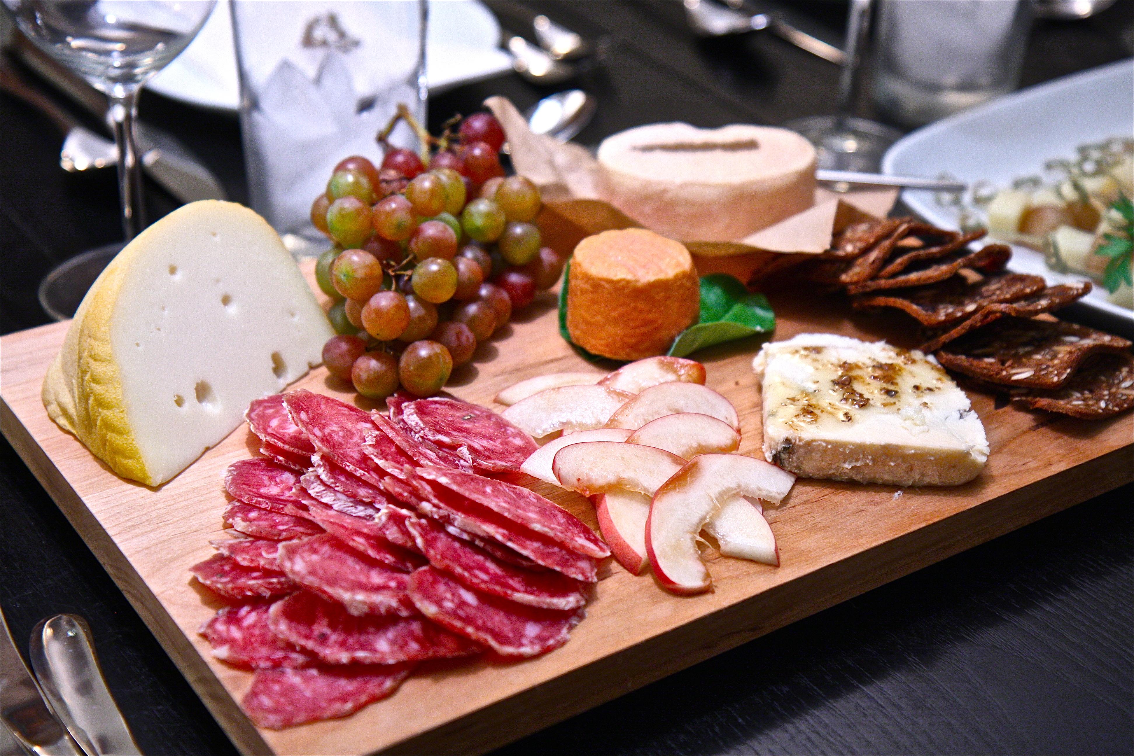 Cheese and salami platter italian saba tomostyle